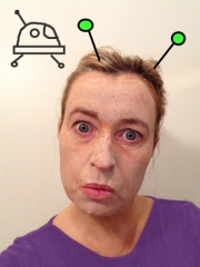 After using Annmarie Gianni's skin care range -before shot